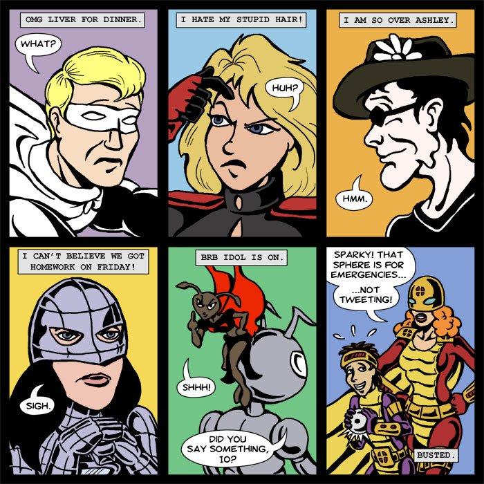 Lady Spectra and Sparky Bonus Comic